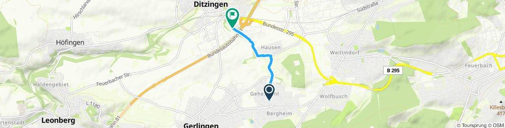 Gerade Fahrt in Ditzingen