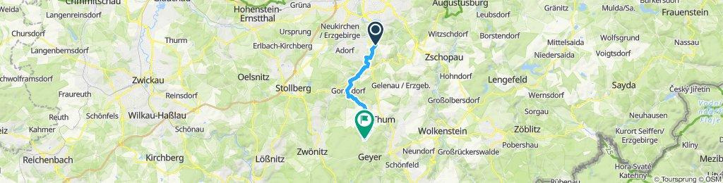 Gemütliche Route in Geyer