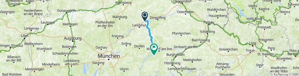 Langsame Fahrt in Kraiburg am Inn