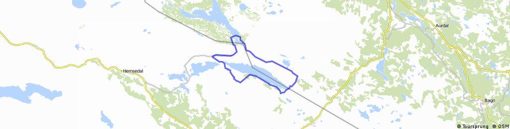 Round trip of Tisleifjorden  - Golsfjellet