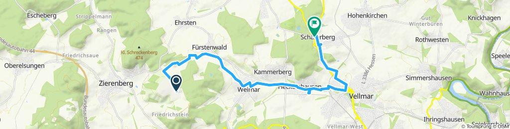 Vom Dörnberg nach Espenau