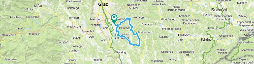 Hausmannstätten - St. Ulrich/Waasen - Frannach - Guggitzgraben - Empersdorf und retour