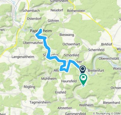 Route im Schneckentempo in Neuburg an der Donatt