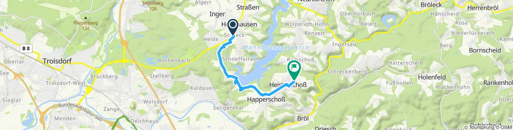 Langsame Fahrt in Hennef (Sieg)