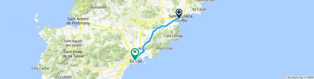 Santa Eularia nach Eivissa Stadt