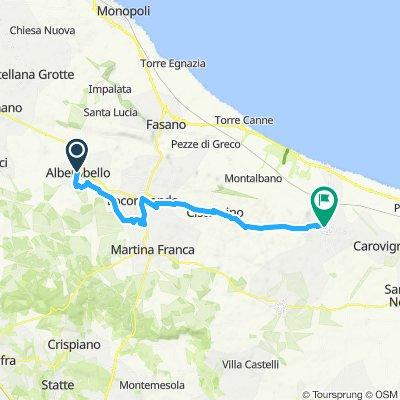 Alberobello to Ostuni Scenic Route