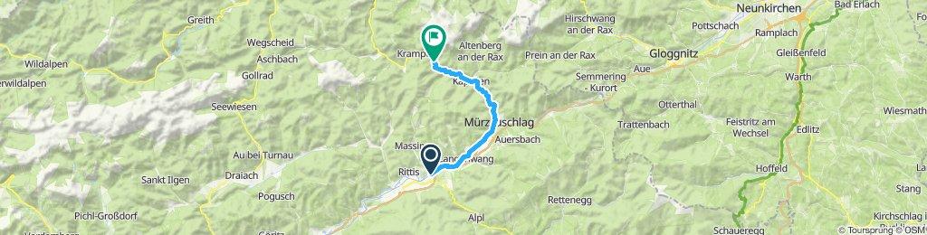 Einfache Fahrt in Neuberg an der Mürz