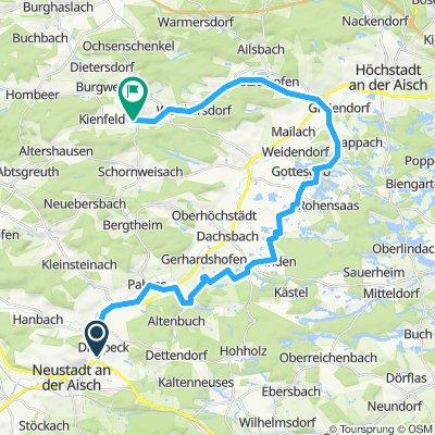 Radtour zu den Weihern bei Gottesgab und  entlang der Kleinen Weissach Teil 1