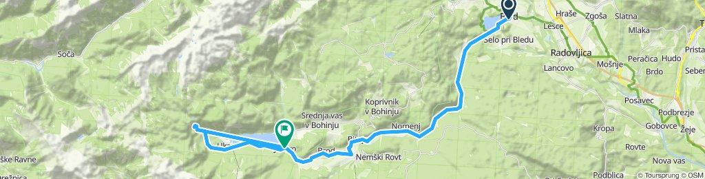 Moderate route in Bohinj