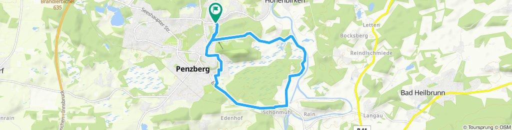 Einfache Fahrt in Penzberg