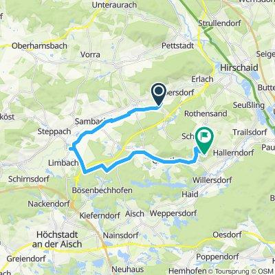 Radtour entlang der Ebrach nach Pommersfelden und  über den Kreuzberg zurück nach Altendorf Teil 2