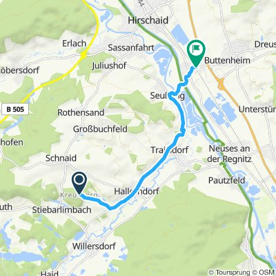 Radtour entlang der Ebrach nach Pommersfelden und  über den Kreuzberg zurück nach Altendorf Teil 3
