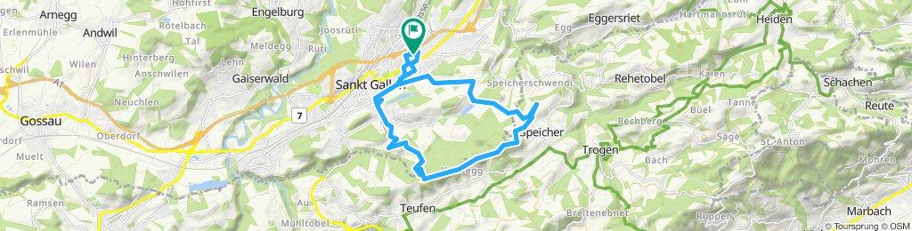 Gerade Fahrt in St. Gallen