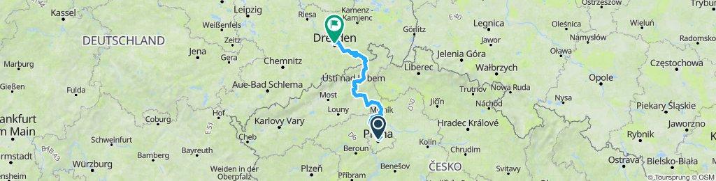 Prag - Dresden Moldau-Elbe