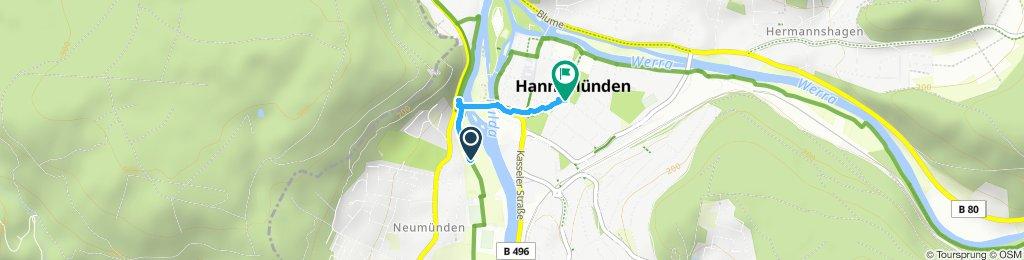 Gemütliche Route in Hann. Münden