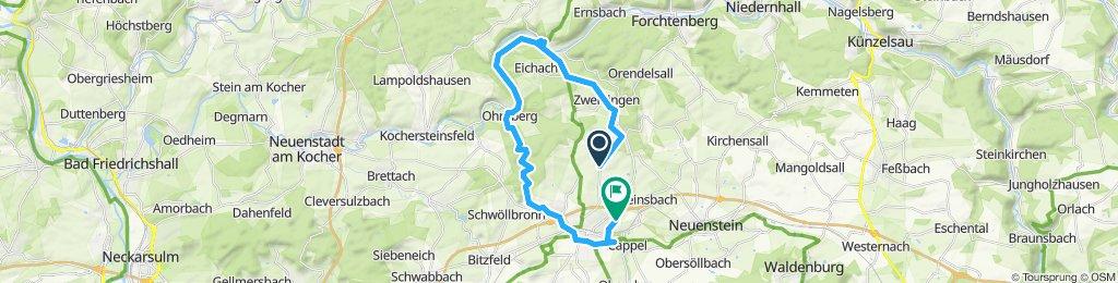öhringen-schießhof-sindringen- ohrnberg- öhringen