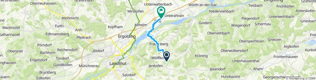Gerade Fahrt in Essenbach
