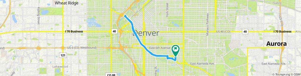 Slow ride in Denver