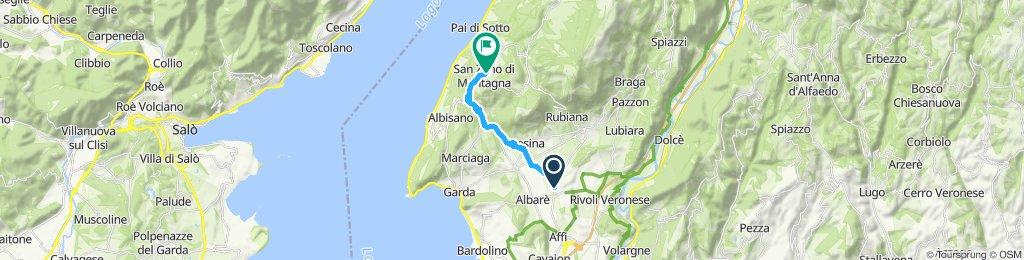 Gemütliche Route in San Zeno di Montagna