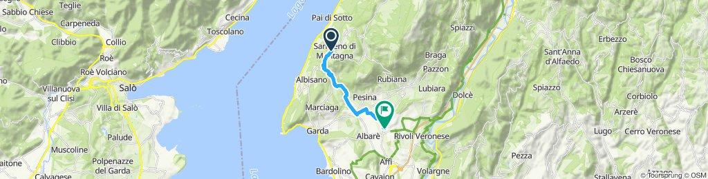 Route im Schneckentempo in Rivoli Veronese