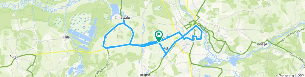 Ülenurme - Tartu - Ilmatsalu