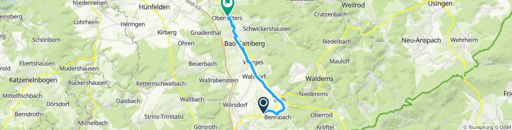 Moderate Route in Bad Camberg