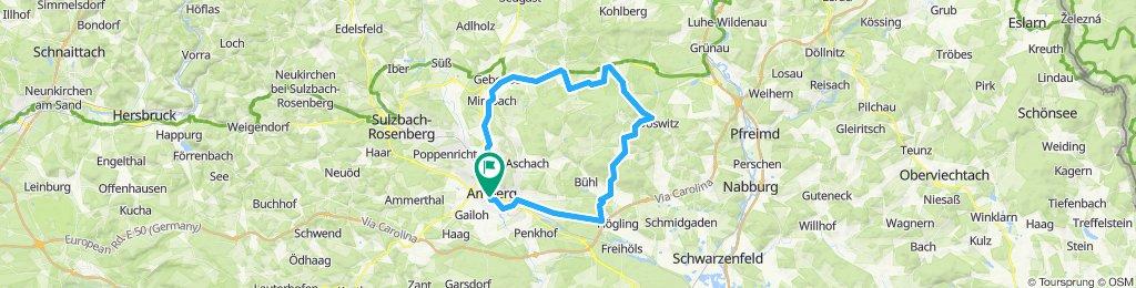 Amberg - Hirschau - Kemnath - Etsdorf - Amberg