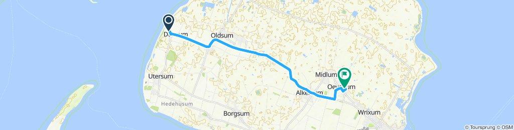 Gerade Fahrt in Oevenum