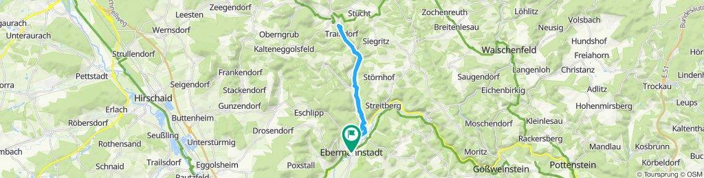Einfache Fahrt in Ebermannstadt