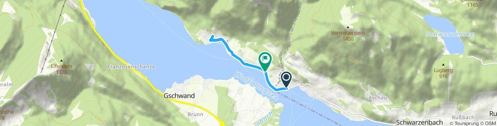 Langsame Fahrt in Sankt Gilgen
