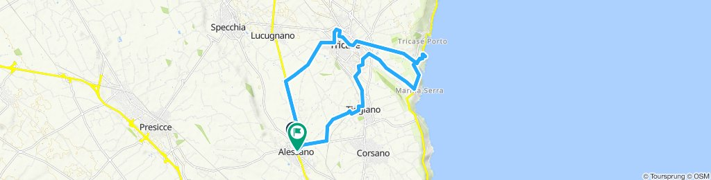Relaxed route in Alessano