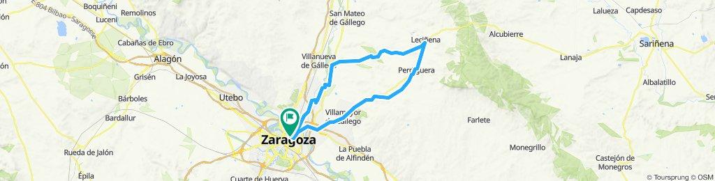 Zaragoza to Lecinena loop (plan)