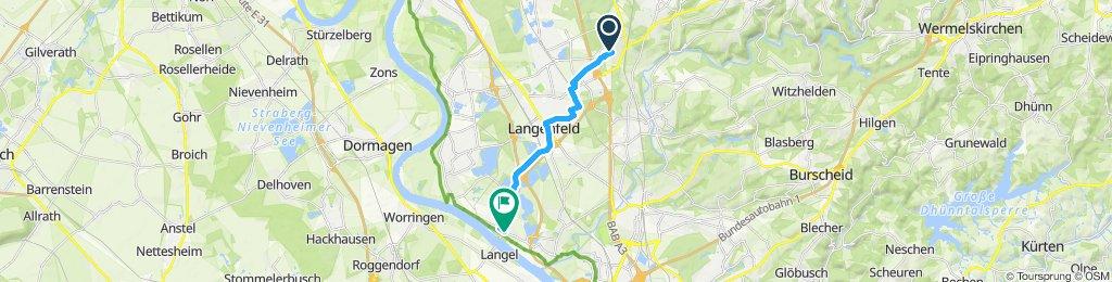 Moderate Route in Leverkusen