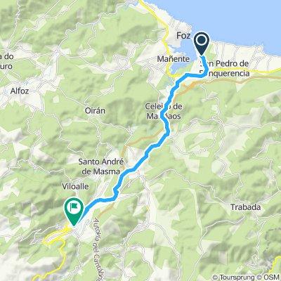 Relaxed route in Mondoñedo.