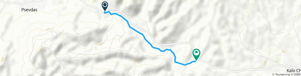 second test route with bikemap, completely unpaved bad surfaces country road, good for mountain biking