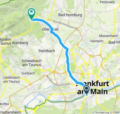 Route nach Oberursel