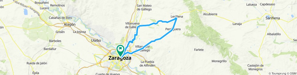 Zaragoza to Lecinena loop (actual)