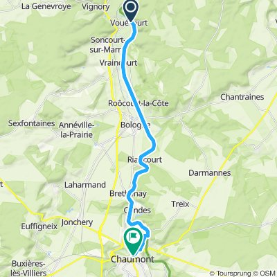 Vouecourt to Chaumont via the canal
