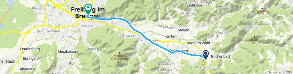 Einfache Fahrt in Freiburg im Breisgau