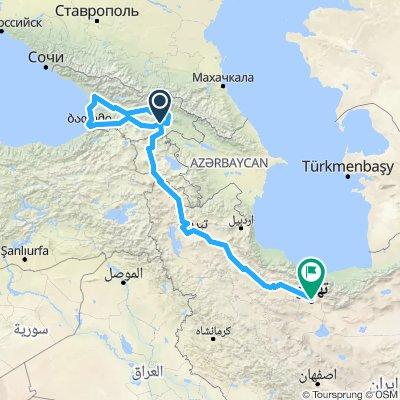 Tiblisi Teheran grove route