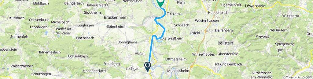 Route im Schneckentempo in Besigheimer