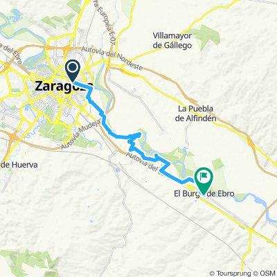 Zaragoza to El Burgo de Ebro (actual)