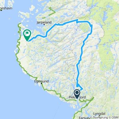 Sykkelrute 12 Flekkefjord - Sirdal - Sandnes