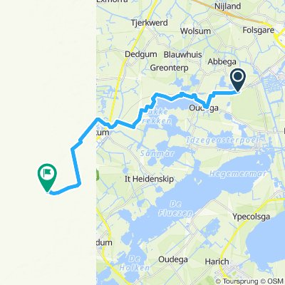 Einfache Fahrt in Hindeloopen