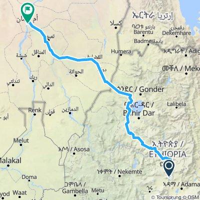 Addis Abeba - Khartoum