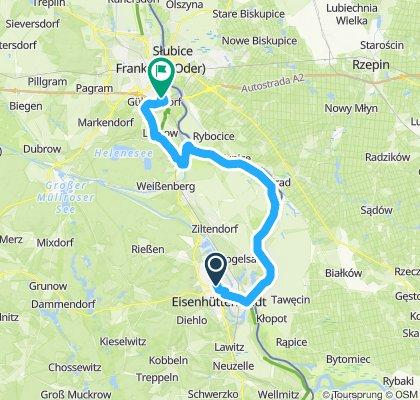 Gerade Fahrt in Frankfurt (Oder)