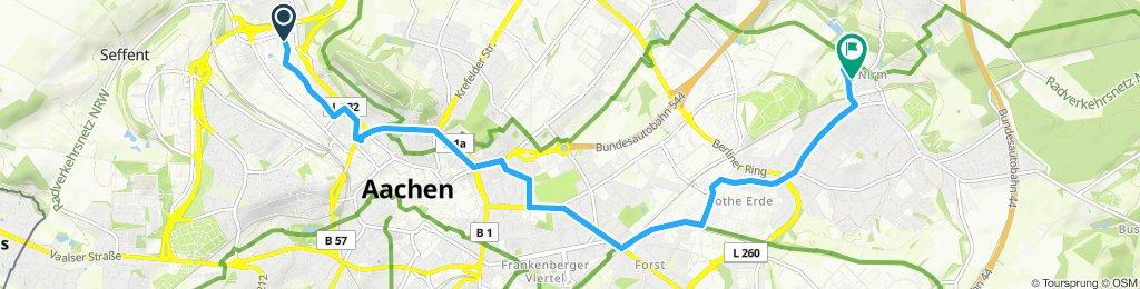 Gemütliche Route in Aachen
