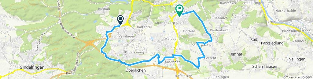 zuhause. Rohr bis Degerloch, 13.06.2019