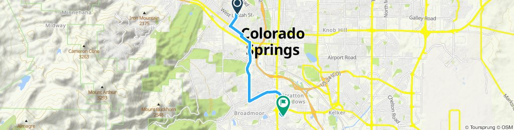 Relaxed route in Colorado Springs