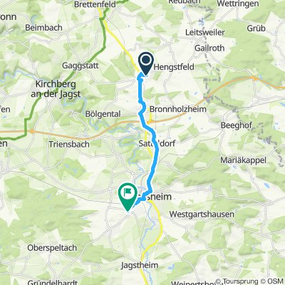 Wallhausen-Gröningen-Satteldorf-Crailsheim